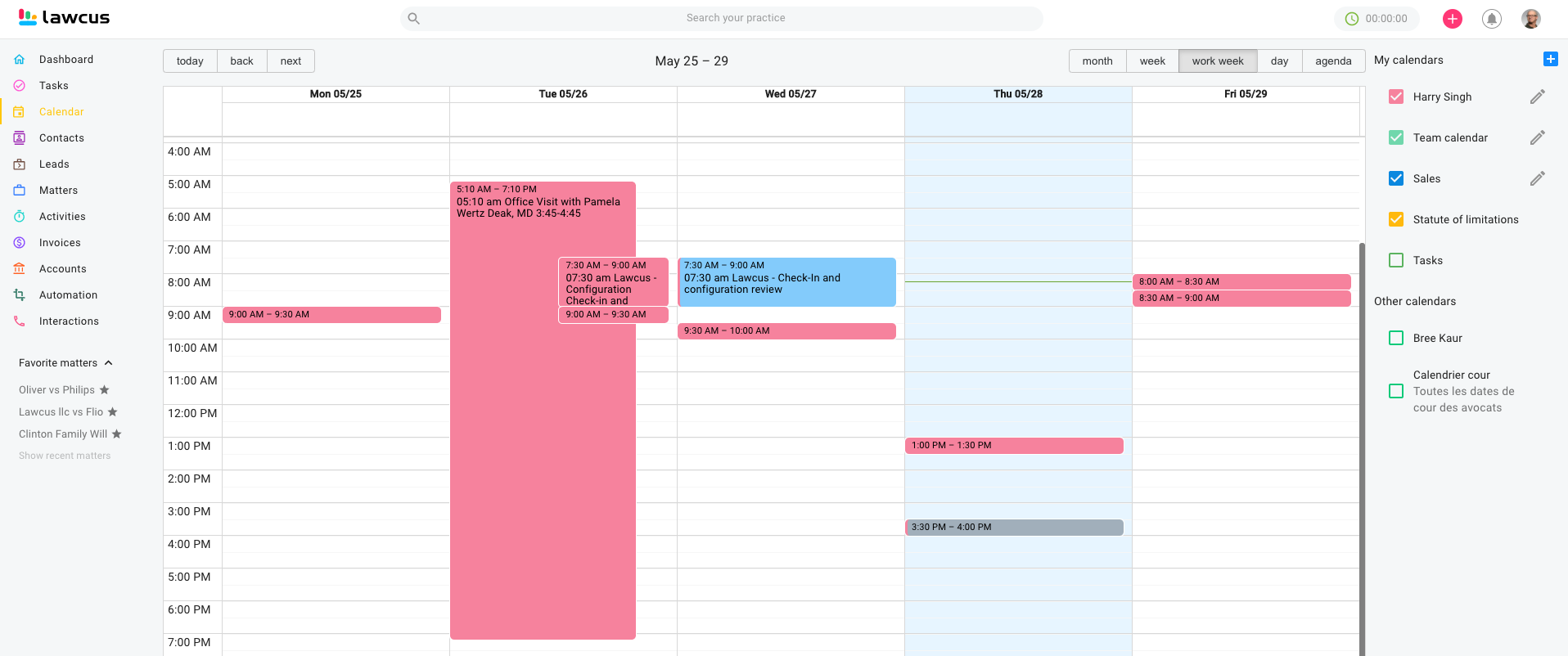 Legal Calendar - ColorCodeEvents